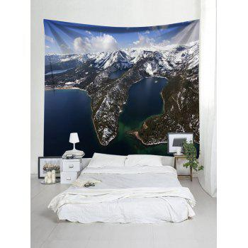 High Altitude Snowy Mountain Print Art Hanging Tapestry - WHITE W91 INCH * L71 INCH