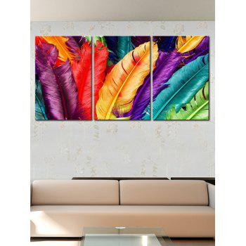 Colorful Feather Print Unframed Canvas Paintings - COLORFUL 3PC:12*18 INCH( NO FRAME )
