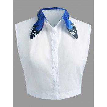 Butterfly Collar Plus Size Detachable Collar - BLUE 3XL
