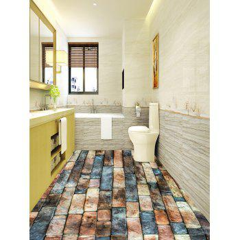 Retro Bricks Print Antislip Bathroom Stickers - COLORMIX 6PCS:17*63 INCH