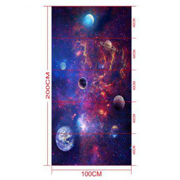 Night Starry Sky Print Removable Floor Decals - PURPLE 5PCS:16*39 INCH
