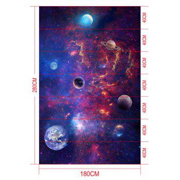 Night Starry Sky Print Removable Floor Decals - PURPLE 7PCS:16*71 INCH