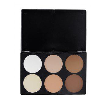 6 Colors Highlighted Face Bronzing Powder Kit - COLORMIX