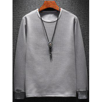 Pleat Effect Sweatshirt Twinset - GRAY XL