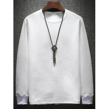 Pleat Effect Sweatshirt Twinset - WHITE 2XL