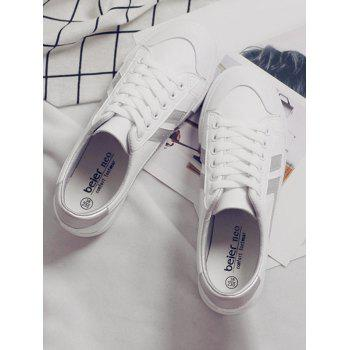 Casual Contrasting Color Skate Shoes - SILVER 37