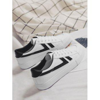 Casual Contrasting Color Skate Shoes - BLACK 35