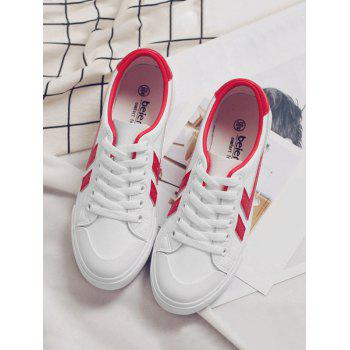 Casual Contrasting Color Skate Shoes - RED 39