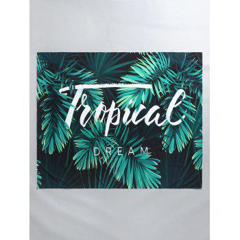 Letter Palm Print Beach Throw - GREEN ONE SIZE
