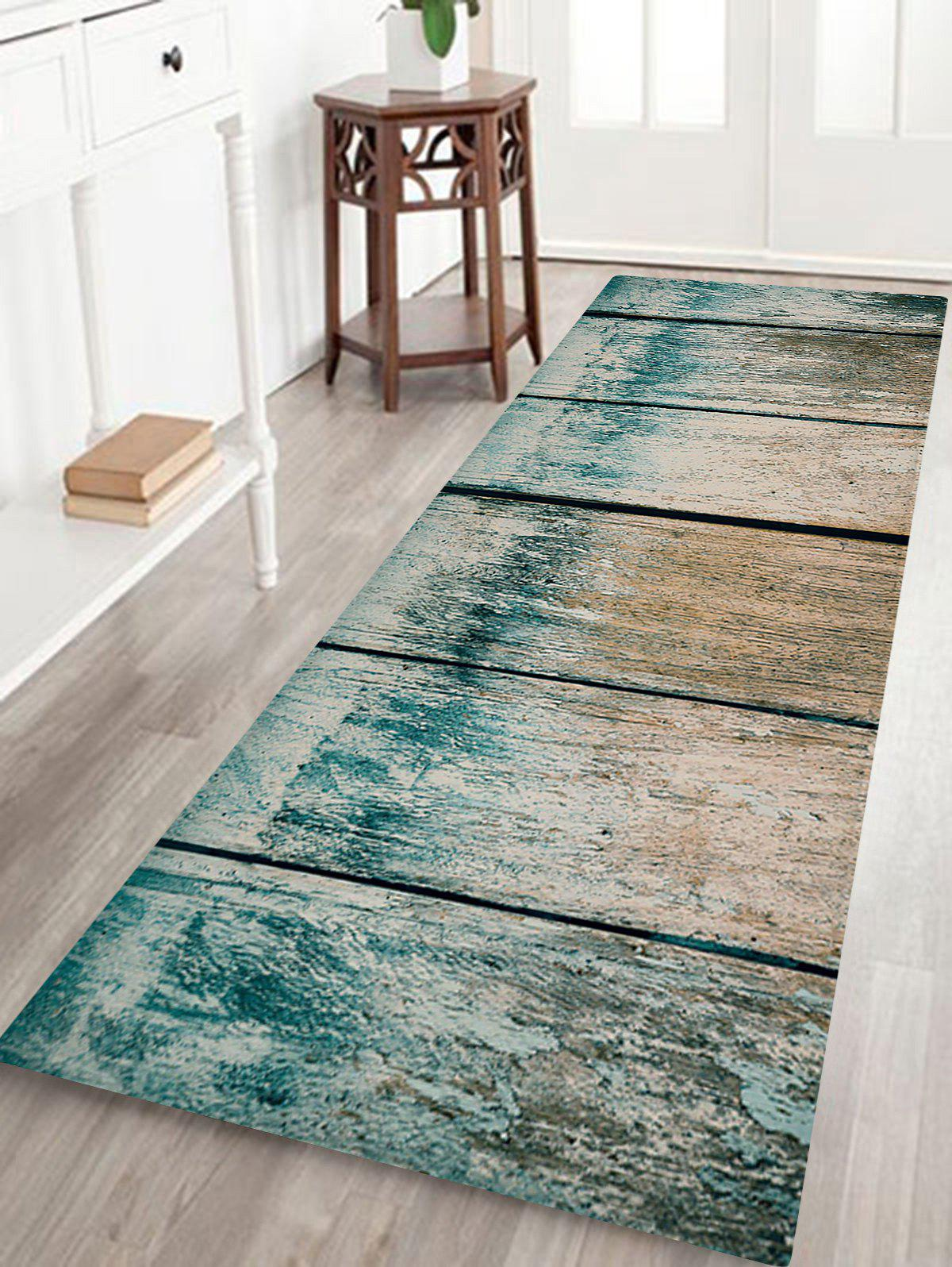 Old Wood Board Print Non-skip Indoor Outdoor Area Rug, Colormix