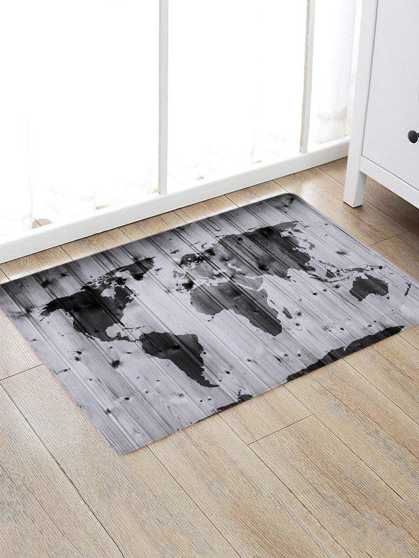 Wood Grain Plat Print Anti-skid Water Absorption Area Rug skidproof water absorption bathroom rug with wood grain print