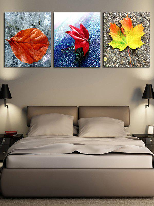 Fallen Leaves Pattern Unframed Decorative Canvas Paintings