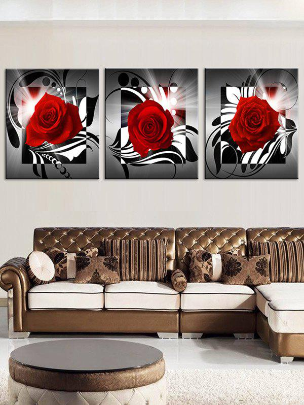 Blooming Rose Pattern Wall Art Canvas Paintings wall art mechanical motor pattern canvas paintings