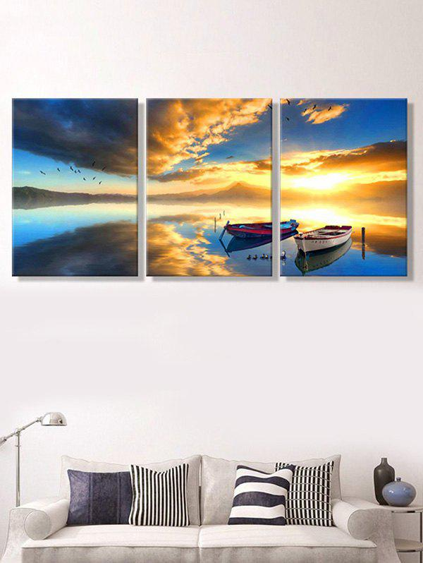 Sunset Sea Print Unframed Canvas Paintings wall art sunset pyramids printed unframed canvas paintings