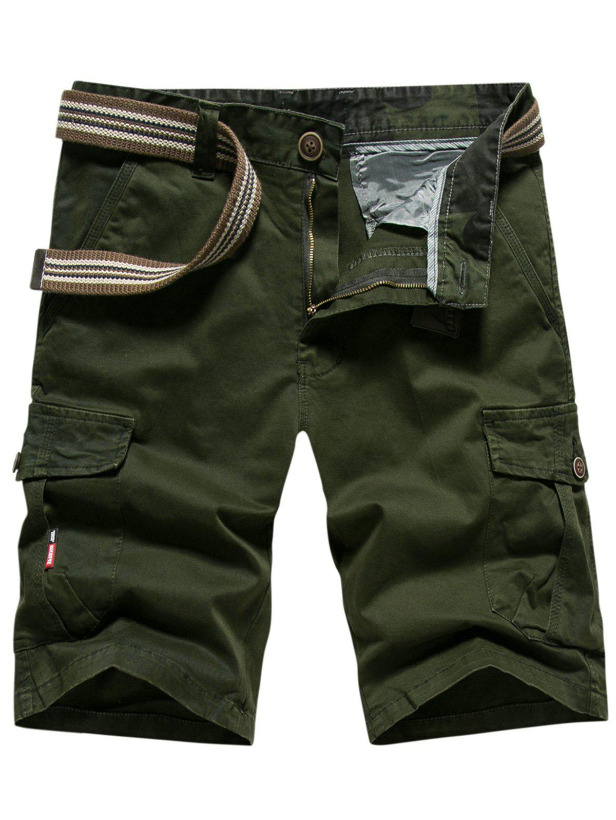 Outdoor Wear Lightweight Cargo Shorts - ARMY GREEN 34