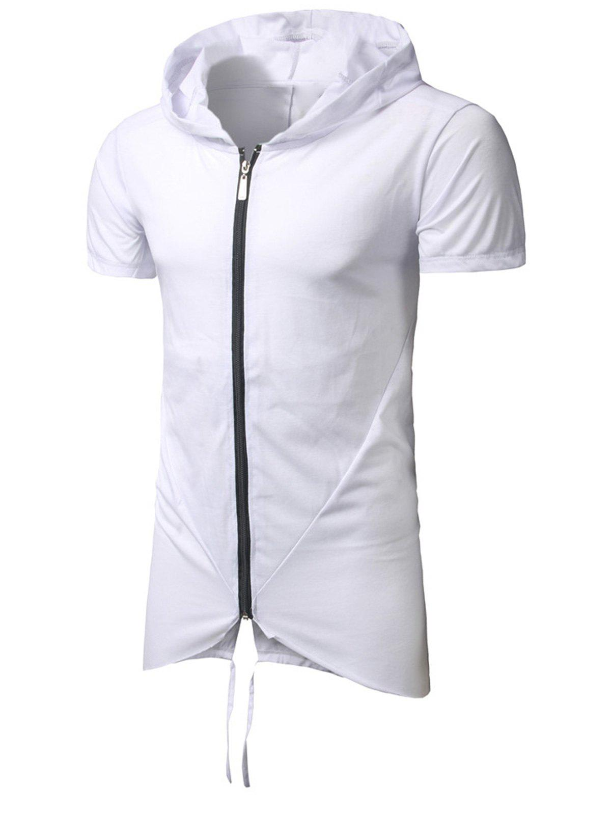 Fishtail Zip Up Hooded T-Shirt