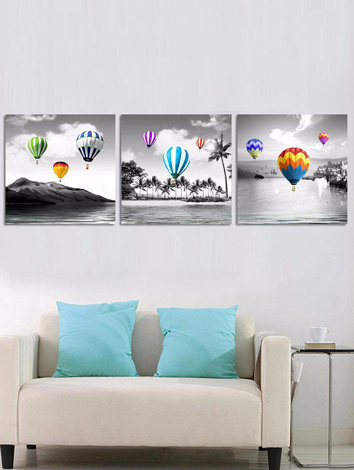 Flying Colorful Balloons Printed Unframed Canvas Paintings wall art sunset pyramids printed unframed canvas paintings