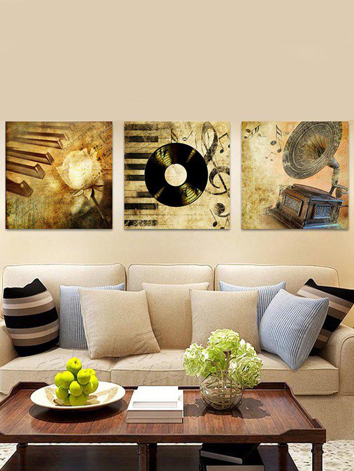 Retro Music Record Printed Wall Art Canvas Paintings burning guitar pattern unframed wall art canvas paintings