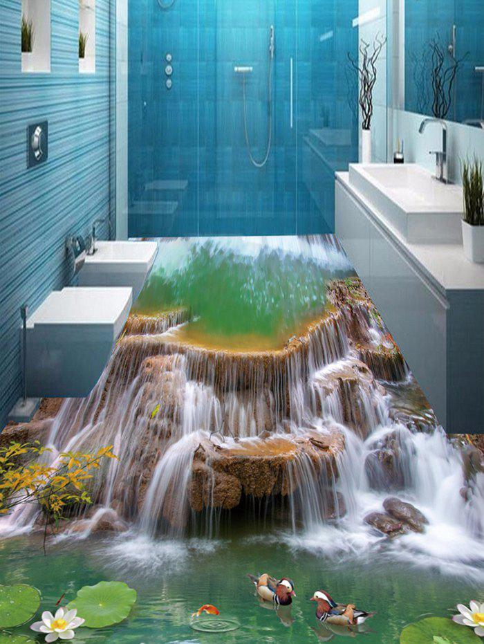 Waterfall Pool Print Decorative 3D Floor Stickers - COLORMIX 5PCS:17*59 INCH