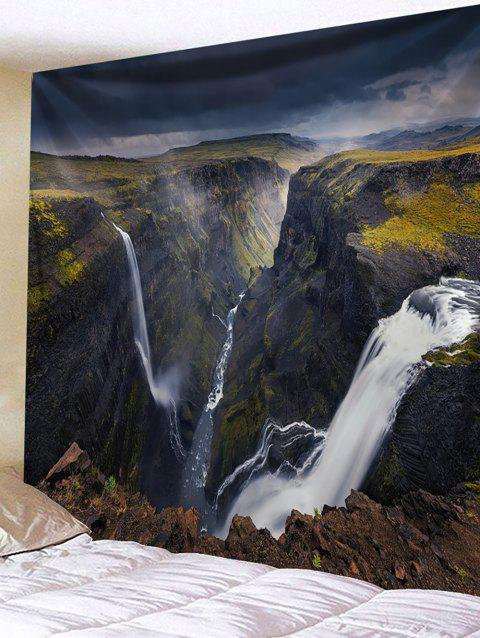 Wall Hanging Art Mountains Waterfall Print Tapestry - COLORMIX W59 INCH * L59 INCH