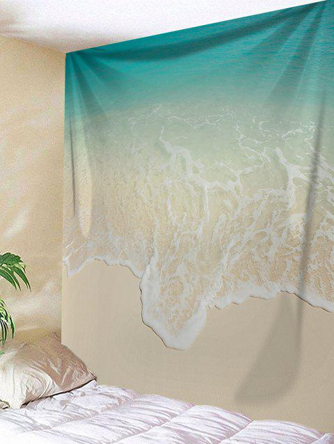 Beach Sea Waves Print Art Wall Hanging Tapestry - CLOUDY W59 INCH * L59 INCH