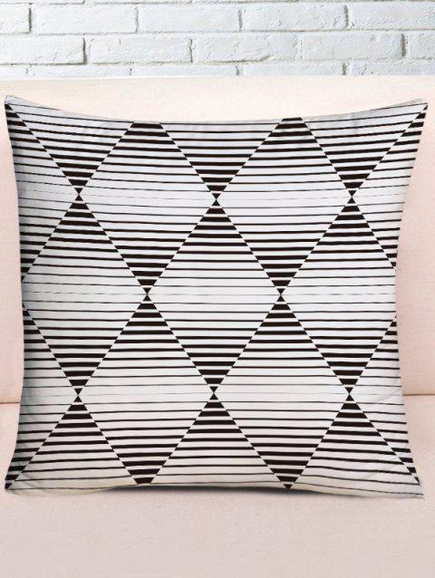 Lines Geometric Print Decorative Pillow Cover - BLACK WHITE W18 INCH * L18 INCH