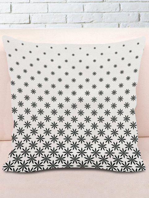 Leaves Print Decorative Pillow Cover - GREY WHITE W18 INCH * L18 INCH