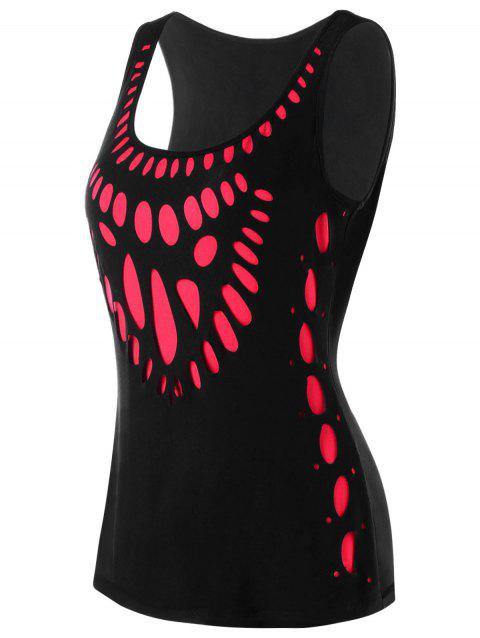 Two Tone Tank Top - BLACK/RED M