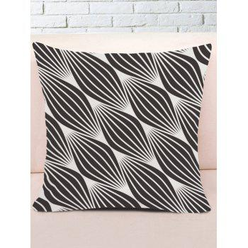 Linellae Printed Throw Pillow Case - BLACK WHITE W18 INCH * L18 INCH