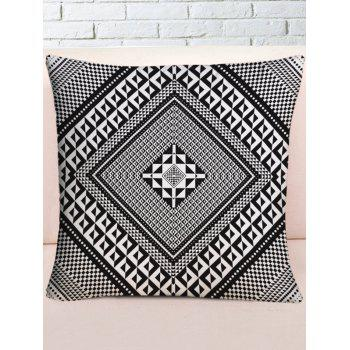 Splicing Pattern Throw Pillow Case - BLACK WHITE W18 INCH * L18 INCH