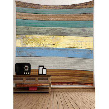 Wall Decor Colorful Wood Grain Board Printed Tapestry - COLORFUL W79 INCH * L59 INCH