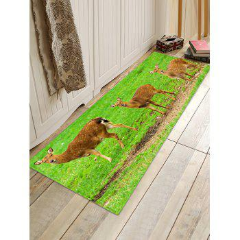 Slouchy Deer Home Decor Floor Area Rug - GREEN W16 INCH * L47 INCH