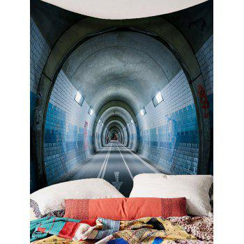 Tunnel Printed Wall Hanging Tapestry - GRAY W91 INCH * L71 INCH