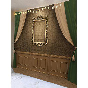 Vintage Photo Frame Wall Curtain Print Tapestry - COLORFUL W91 INCH * L71 INCH