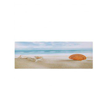 Seaside Fan-shaped Shell Printed Indoor Outdoor Area Rug - COLORMIX W24 INCH * L71 INCH