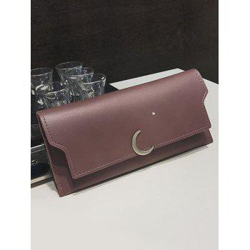 Moon and Star Long Card Holder Wallet - PURPLE
