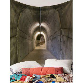 Secret Tunnel Printed Wall Tapestry - GRAY W91 INCH * L71 INCH