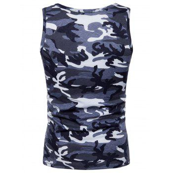 Camouflage Printed Workout Tank Top - GRAY M