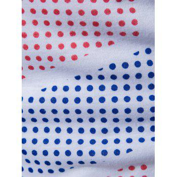 Colored Polka Dot Pattern Tank Top - WHITE M