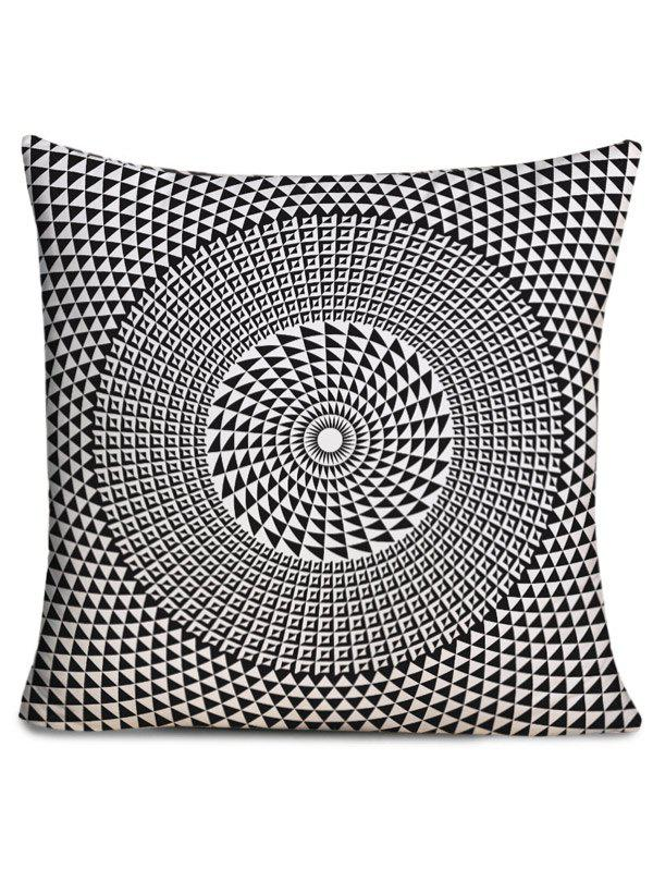 Layered Circle Printed Throw Pillow Case happy birthday printed throw pillow case