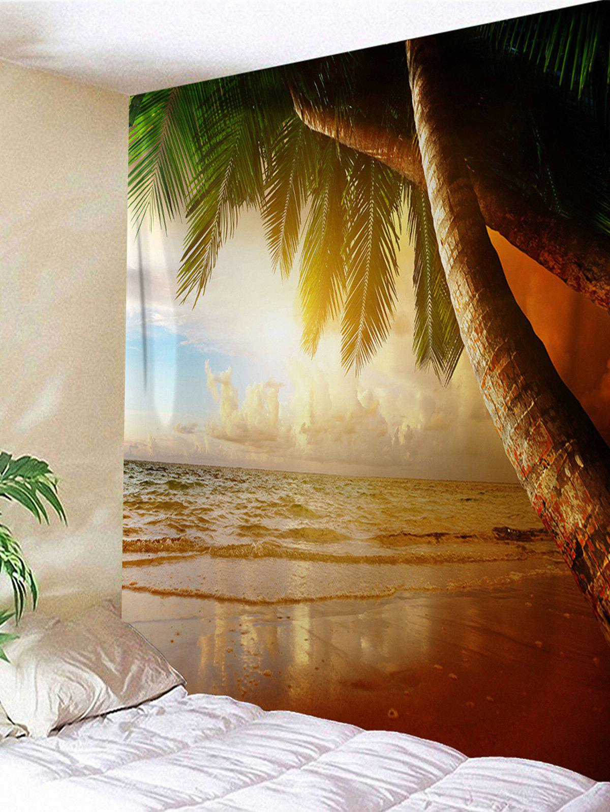 Beach Coconut Palm Printed Wall Hanging Tapestry