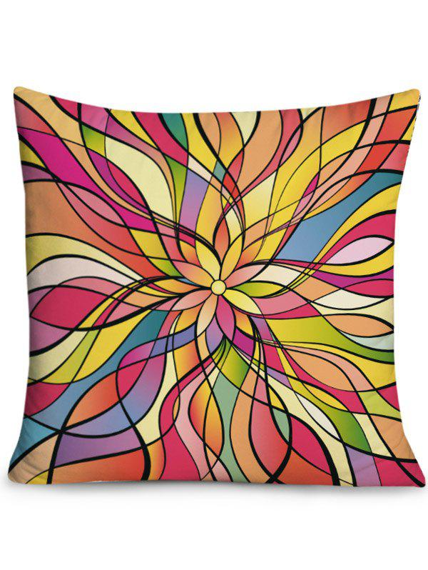 Overlapped Figures Printed Throw Pillow Case - COLORFUL W18 INCH * L18 INCH