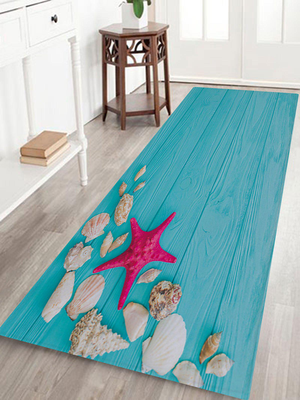 Board Starfish Print Anti-skid Water Absorption Area Rug shell starfish deck pattern water absorption area rug
