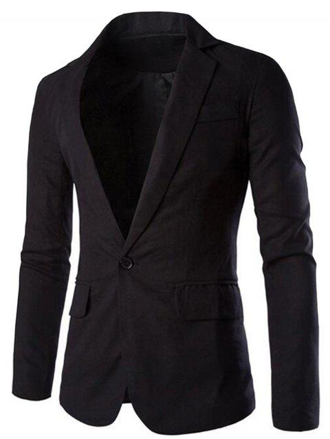 Edging One Button Blazer - BLACK XL