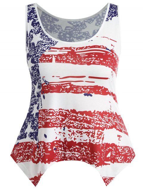 c4d7c82a7c0 LIMITED OFFER  2018 Plus Size US Flag Handkerchief Tank Top In US ...