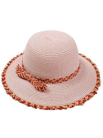Retro Bowknot Embellished Straw Hat