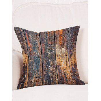 Broken Wood Plank Print Throw Pillow Case - BROWN W18 INCH * L18 INCH