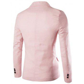 Edging One Button Blazer - PINK 2XL