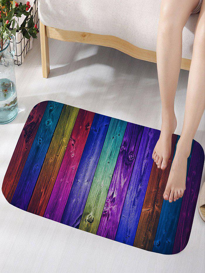 Colorful Wood Grain Background Print Antislip Floor Rug бур bosch sds plus 5x 8x150x210 2608833790