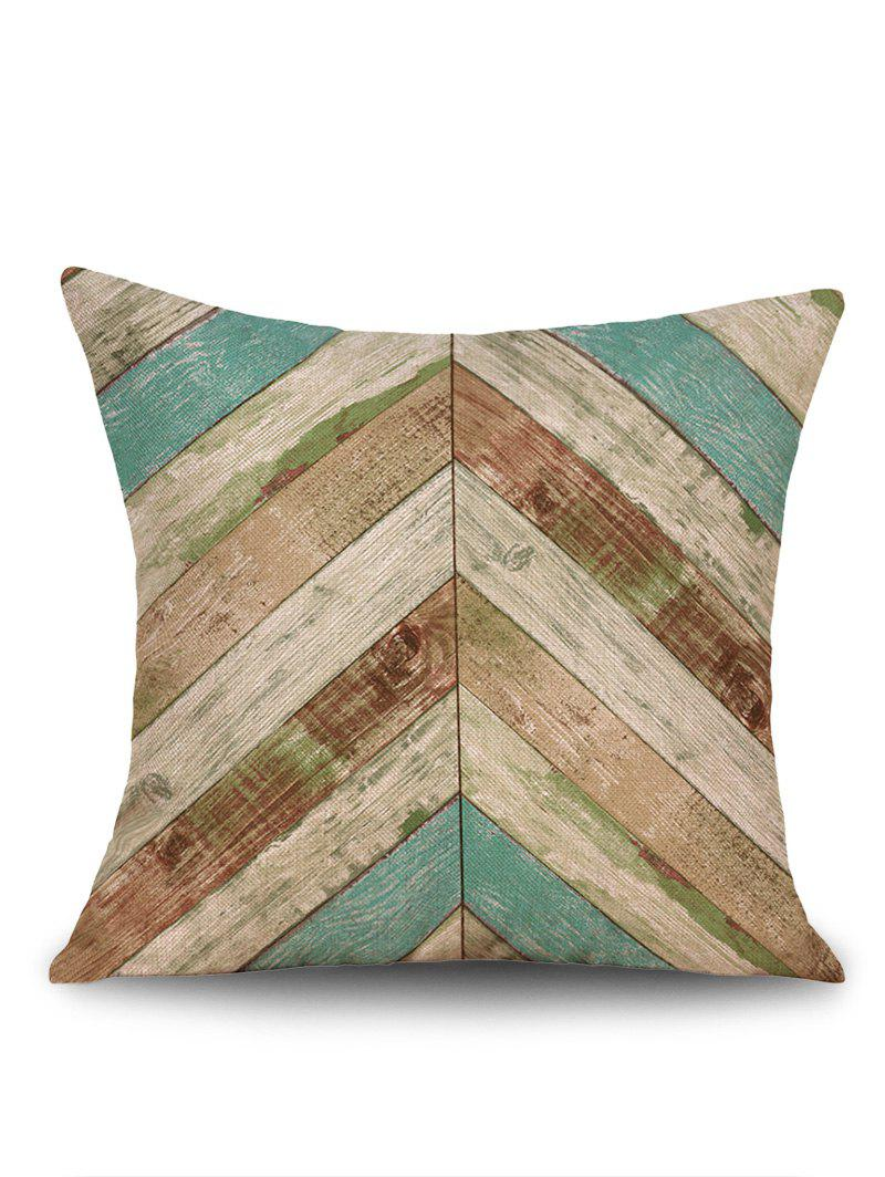 Geometric Wood Grain Print Linen Sofa Pillowcase - LAKE BLUE W18 INCH * L18 INCH